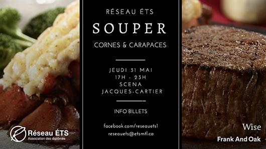 Souper Cornes et carapaces 2018 du Réseau ÉTS